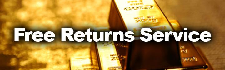 Free Gold Returns Service
